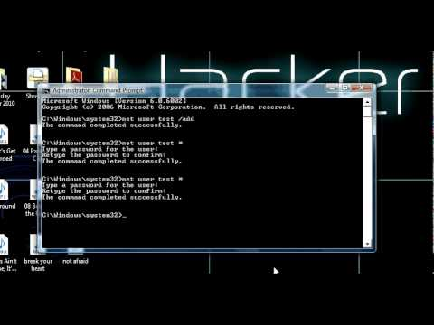 how to hack a computer password and then change it using CMD