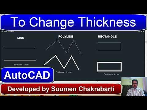 AutoCAD Tutorial: To Change Line Thickness (Width)l     Soumen Sir