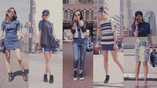 Street Style Fashion 1 Dress 5 Ways | Transformations