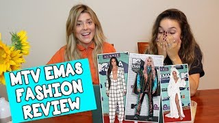 MTV EMAs FASHION REVIEW w/KRISTEN MCATEE // Grace Helbig