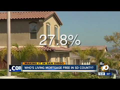 26 percent of San Diegans living mortgage free
