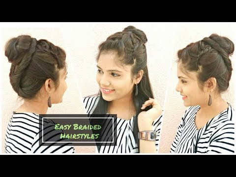 Quick Triple French BRAIDED Halfup Hairstyle | DIY Wedding Updo/Bun Hair tutorial