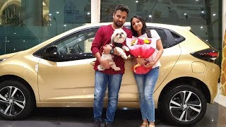 First Delivery Video of Tata Altroz Top End Red Color with Cute Dog|Cake Cutting&Happy Moments