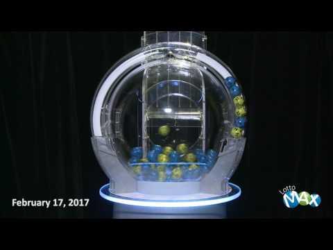 Lotto Max Draw February 17, 2017