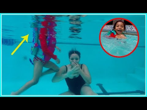Toddler Reaction To Going Under Water!! Fun Swim In The Pool!