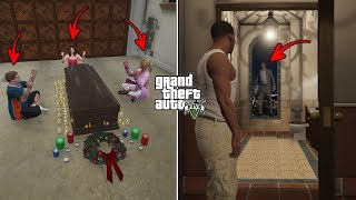GTA 5 - What Happens If You Visit Michael's House after Michael's Death? (scary ritual)