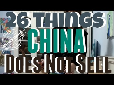 26 Things You Cannot Find in China | Care Package | Wheelee's Travels