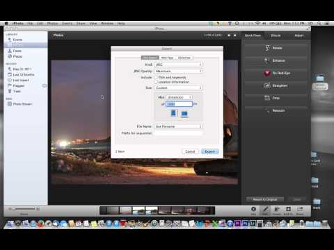 Resize a photo in iPhoto