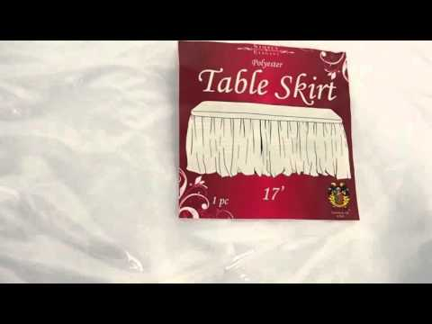 Heavy Duty Polyester Fabric Table Skirt Display - 14' & 17'