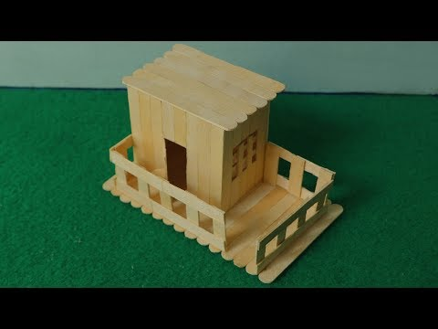 How to make a ice cream stick mini house | DIY popsicle stick house