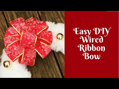 Christmas Crafts: Easy DIY Wired Ribbon Bow