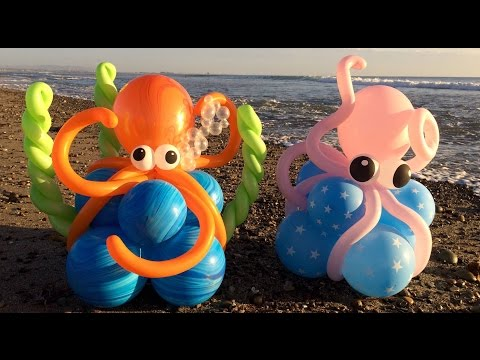 Octopus Balloon Decorations Tutorial!