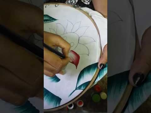 how to do fabric painting hindi