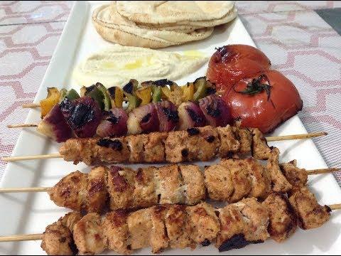 Shish Taouk Recipe /  shish taouk chicken kebab