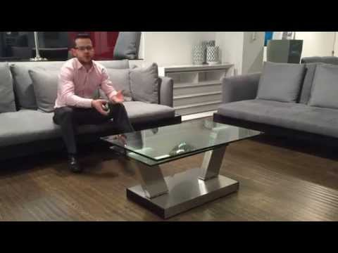 G8140 Swivel Glass Coffee Table | Gainsville Furniture