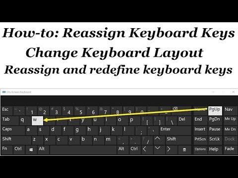 How to reassign and redefine keyboard keys in Windows 10/8/7