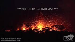 5-13-2018 Pahoa, Hi breathtaking night video of massive lava fountains as fissure 18 erupts 4k
