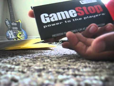 Gamestop giftcard unboxing/unwrapping