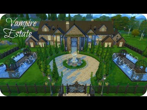 Sims 4 Vampires Speed Build   Vampire Estate