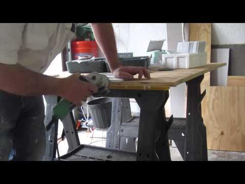How to polish marble tile edge