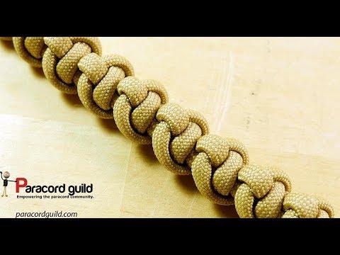 Chiton knot paracord bracelet