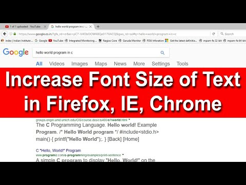 How to increase font size of text in firefox,IE,Chrome