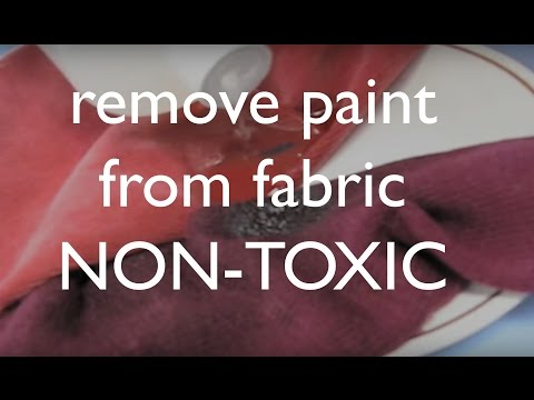 How to Get Dried Acrylic Paint Out of Your Clothing & Fabrics NON-TOXIC