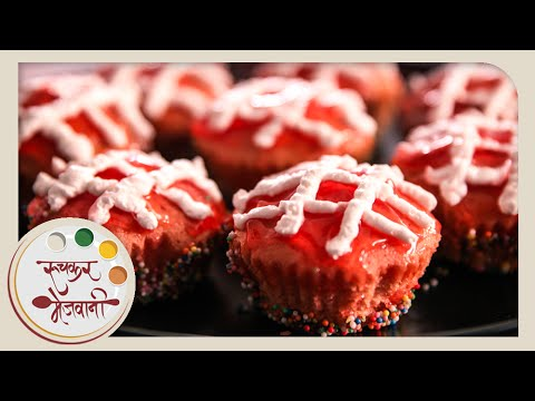 Strawberry Cupcake With Icing | Recipe by Archana | Easy To Make Cake At Home
