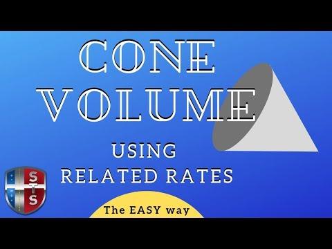 Calculus - Related Rates - Cone Volume - Analytics
