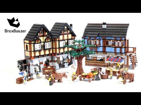 Lego Castle 10193 Medieval Market Village - Lego Speed Build