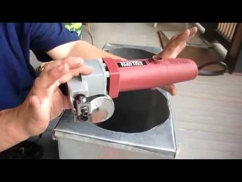 Cut round hole with harbor freight sheet metal sheer