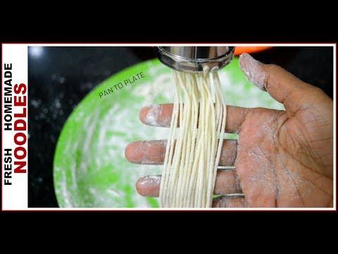 Egg less Fresh Home Noodles | झटपट बनाइये फ्रेश नूडल्स | Homemade Noodles