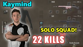 Kaymind - 22 KILLS - SOLO SQUAD! - M416 + SLR - Archive Games - PUBG