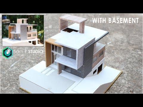 Part 2- MODEL of a MODERN RESIDENTIAL BUILDING with BASEMENT.