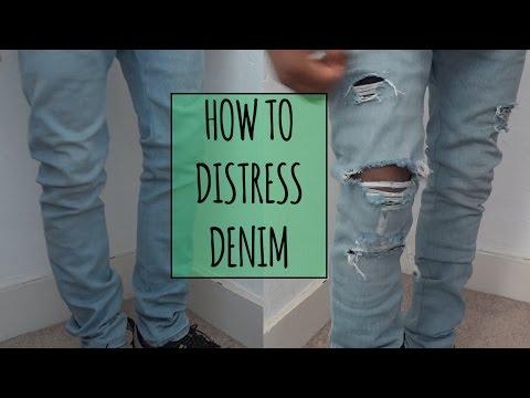 How to Distress Denim | ElevatedIke