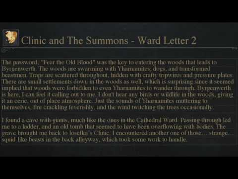 Let's Play Bloodborne Cinematically Letter #5 - The Woods and Cainhurst Summons