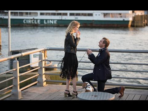 Sweetest proposal ever captured by drone. New York City 2015