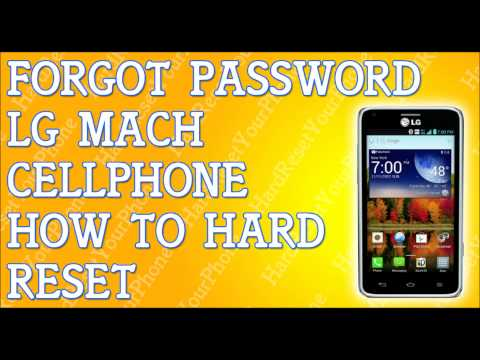 Forgot Password LG Mach How To Hard Reset
