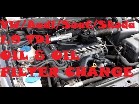 1.9tdi Oil & Filter Change VW Golf Mk4 / Seat Leon mk1 / Audi A3 8l / Skoda