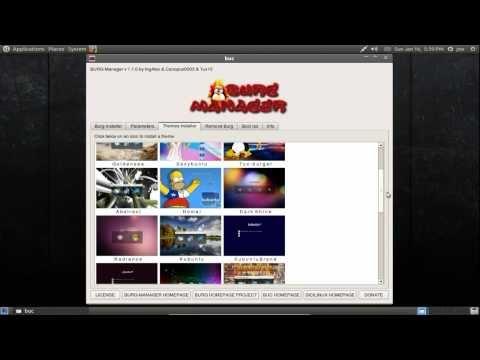 Theme Grub 2 with Burg Manager ~ Ubuntu 10.10