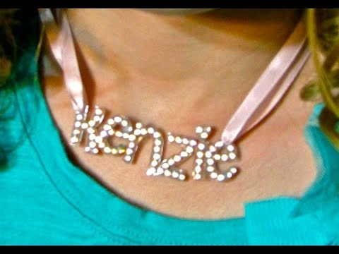 How To Make A Name Necklace (Shrink Plastic)