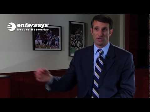 What is Enterasys' unique value prop for venues such as Gillette Stadium?