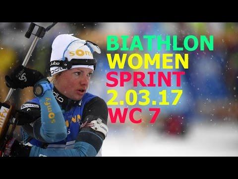 BIATHLON WOMEN SPRINT 2.03.2017 World Cup 7 PyeongChang (Republic of Korea)