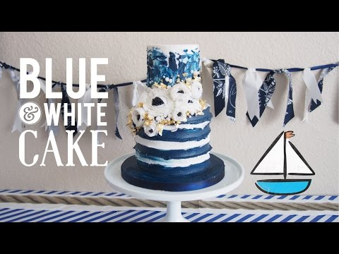 Blue and White Floral & Painted Cake | Oddly Satisfying Cake Decorating | Greggy Soriano
