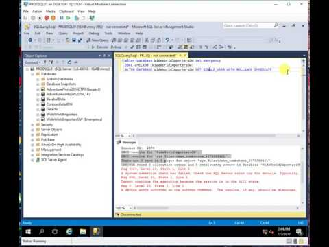 how to recover a sql server database from suspect mode