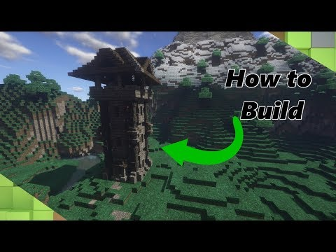 Minecraft Tutorial: How to build a Medieval Tower