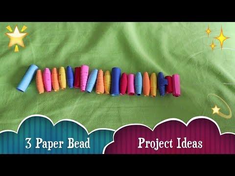 Paper Bead Project Ideas! Earrings, Bracelet, & Keychain