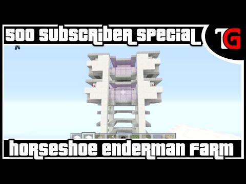 Horseshoe Enderman Farm [500 Subscriber Special] Redstone Tutorial #192
