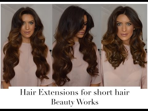 Curling Hair Extension with STRAIGHTENERS TRICK for SHORT hair with Beauty Works!