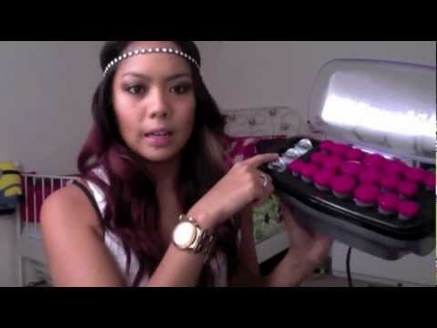 How to get beach waves using Con Air hot rollers